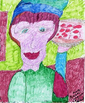 Pizza Anyone Print by Elinor Rakowski
