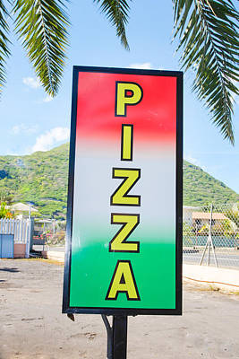 Pizza Sign Print by Tom Gowanlock