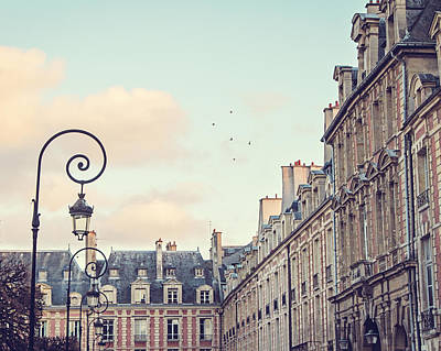 Amazing Digital Art - Place Des Vosges In Paris France by Melanie Alexandra Price