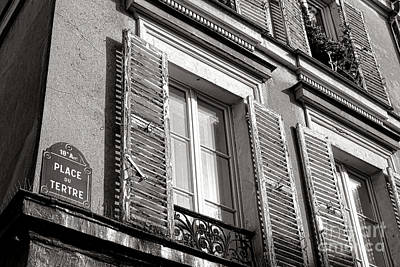 Window Signs Photograph - Place Du Tertre by Olivier Le Queinec