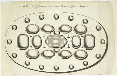 Chapelle Photograph - Place Settings by British Library