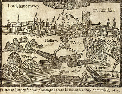 Plague In London Print by British Library