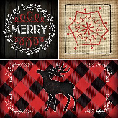 Christmas Painting - Plaid Christmas IIi by Jennifer Pugh