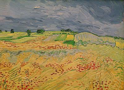 Cornfield Painting - Plain At Auvers by Vincent Van Gogh