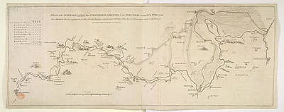 Plan Of A Canal Print by British Library