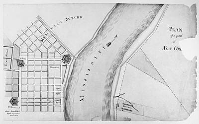 Plan Of New Orleans, 1814 Print by Granger