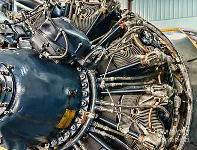 Plane Engine Close Up Print by Paul Ward