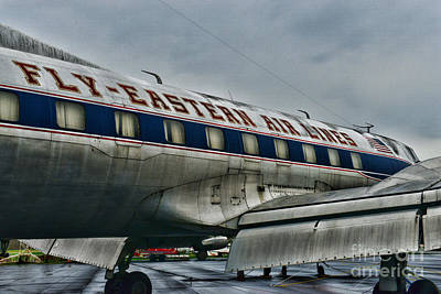 Airlines Photograph - Plane Fly Eastern Air Lines by Paul Ward
