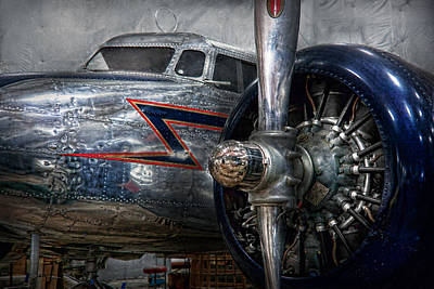 Aviator Print featuring the photograph Plane - Hey Fly Boy  by Mike Savad