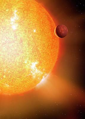 Extrasolar Photograph - Planet And Parent Star by Detlev Van Ravenswaay