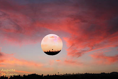 Planet And Sunset Print by Augusta Stylianou