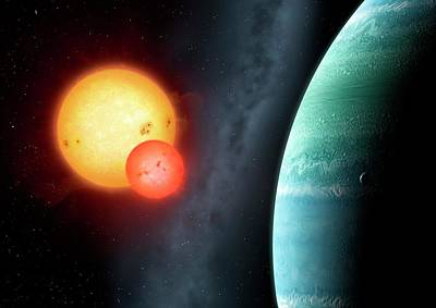 Extrasolar Photograph - Planet Around Binary Star Kepler-453 by Mark Garlick