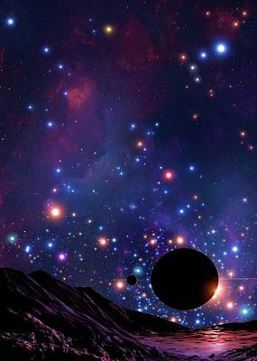 Extrasolar Planet Photograph - Planet At The Centre Of The Milky Way by Mark Garlick