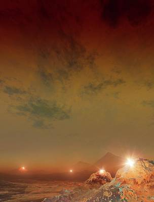 Extrasolar Planet Photograph - Planet Made Of Diamond by Mark Garlick