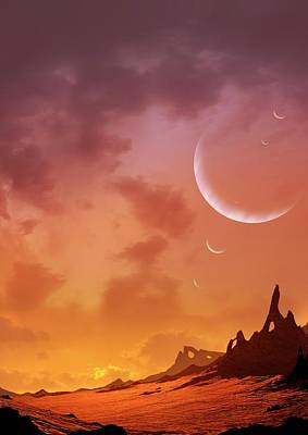 Extrasolar Planet Photograph - Planet Of Hd113538 by Mark Garlick