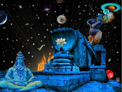 Pink Imaginary Monster Digital Art - Planet Of Shiva  by Jason Saunders