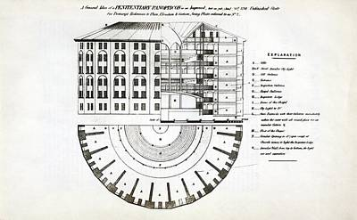 Plans For A Panopticon Prison Print by British Library