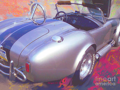 Plasma Flame A C Cobra Print by Shelly Weingart