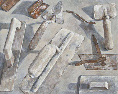 Plasterer Tools 2 Print by Anke Classen