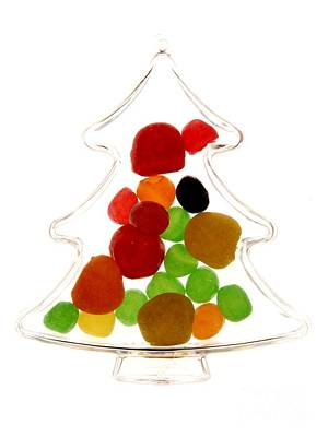 Plastic Christmas Tree Containing Sweet Print by Bernard Jaubert