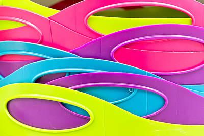 Plastic Tubs Print by Tom Gowanlock