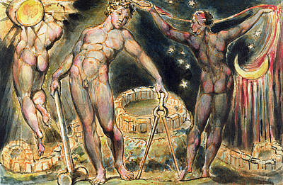 Visionary Painting - Plate 100 From Jerusalem by William Blake