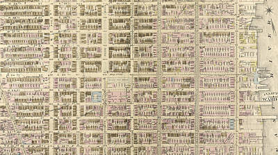 Harlem Drawing - Plate 13 Bounded By W. 40th Street, E. 40th Street by Litz Collection