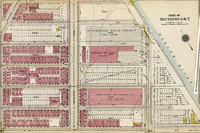 Harlem Drawing - Plate 159 Bounded By W. 151st Street, Seventh Avenue by Litz Collection