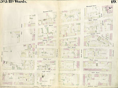 Plate 19 Map Bounded By Concord Street, Navy Street Print by Litz Collection