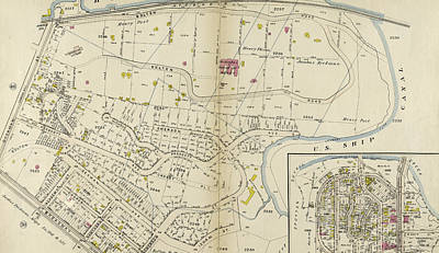 Harlem Drawing - Plate 49 Bounded By Harlem River N.y by Litz Collection