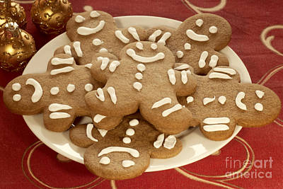 Plateful Of Gingerbread Cookies Print by Juli Scalzi
