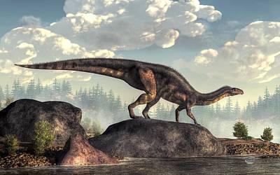 Dino Digital Art - Plateosaurus by Daniel Eskridge