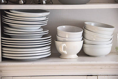 Plates And Bowls Print by Garry Gay
