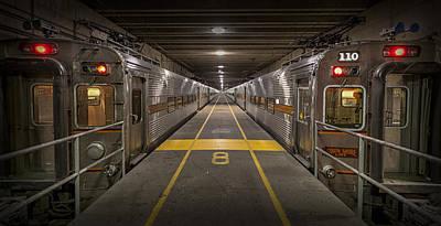 Train Photograph - Platform Eight At Union Station by Adam Romanowicz