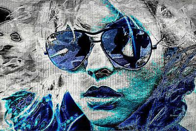 Blondie Digital Art - Platinum Blondie by Absinthe Art By Michelle LeAnn Scott
