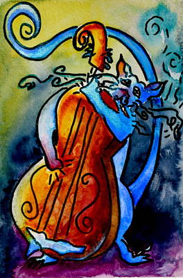 Animation Painting - Play A Smokin' Tune by Beverley Harper Tinsley