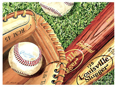 Rawlings Painting - Play Ball by Rick Mock