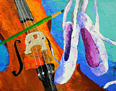 Play Paint Pointe Print by J Travis Duncan
