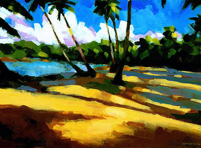 Tropical Painting - Playa Bonita 2 by Douglas Simonson