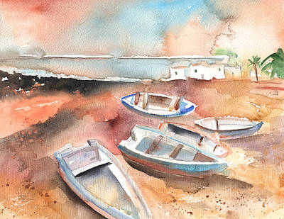 Lanzarote Painting - Playa Honda In Lanzarote 05 by Miki De Goodaboom