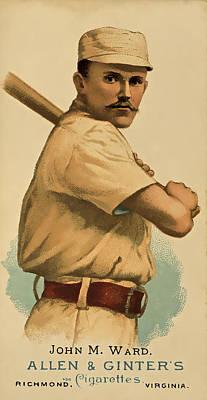 Baseball Players Portrait Digital Art - Players League by David Letts