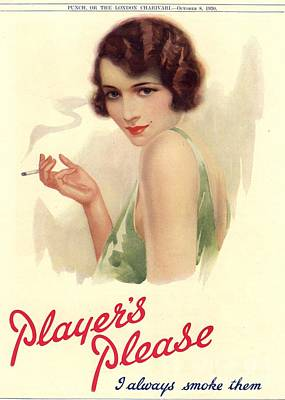 Player Drawing - Player�s Navy Cut 1930s Uk Cigarettes by The Advertising Archives