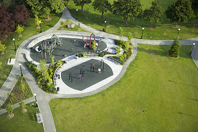 Human Being Photograph - Playground At Cal Anderson Park by Andrew Buchanan/SLP