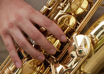 Playing Sax Print by Jim Finch