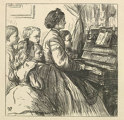 For The Kids Photograph - Playing The Piano by British Library