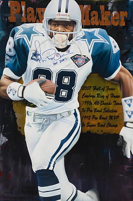Michael Irvin Painting - Playmaker by Rob Jackson