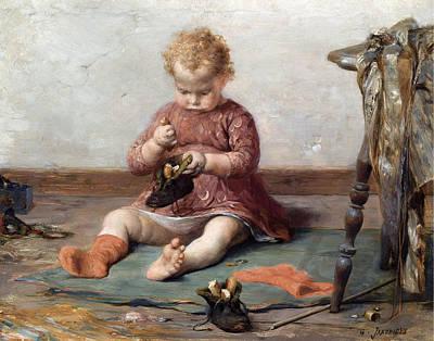 Georgio Painting - Playtime by Georgios Jakovidis