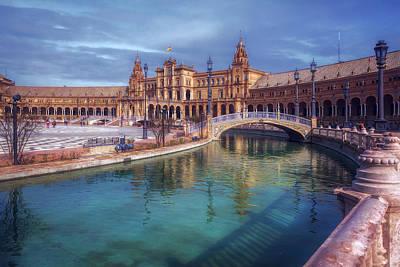 Andalusia Photograph - Plaza De Espana Seville II by Joan Carroll