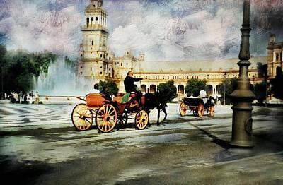 Spanish Landscape Photograph - Plaza De Espana Square by Diana Angstadt