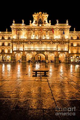 Plaza Mayor In Salamanca Print by JR Photography